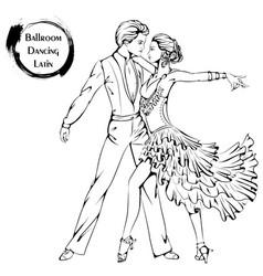 dance line ballroom dancing latina vector image