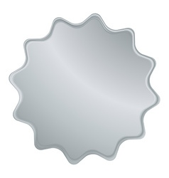 empty silver label that can be used as a seal the vector image