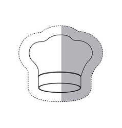 Figure chef hat icon vector
