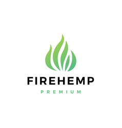 fire cannabis logo icon vector image