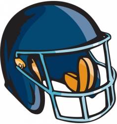 football helmet vector image