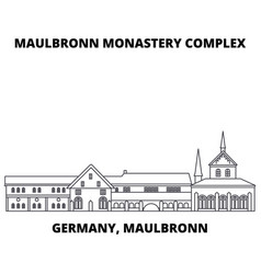 germany maulbronn maulbronn monastery complex vector image