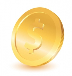 gold dollar coin vector image