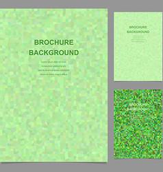 Green abstract rectangle mosaic brochure template vector