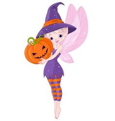 Halloween fairy vector
