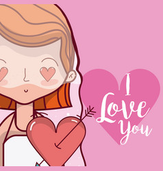 i love you wedding card vector image
