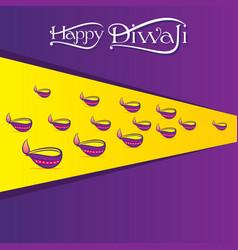 Indian big festival diwali poster design vector