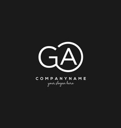 Initial ga letter logo with circle template vector