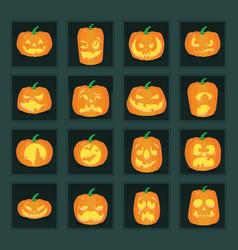 Jack-o-lanterns vector