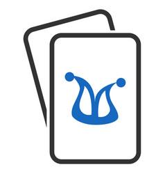 Joker gambling cards flat icon vector