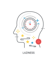 laziness concept vector image