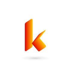 letter k logo icon design template elements vector image