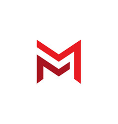 Letter mm logo template double letter m creative vector