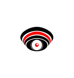 logo symbol abstract eye with a red pupil with a vector image