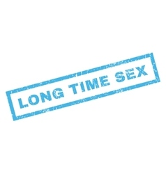 Long Time Sex Rubber Stamp vector image