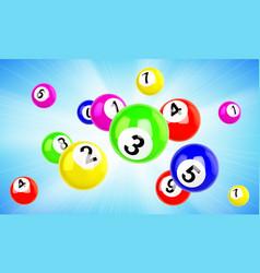 Lotto balls 3d bingo lottery or keno games vector