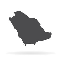 Map saudi arabia isolated vector