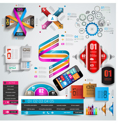 Mega Collection of quality Infographics objects vector image