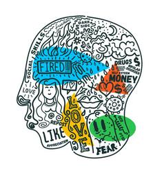 Mental health problems concept vector