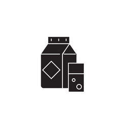 milk carton black concept icon milk carton vector image
