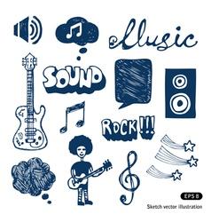 Music elements set vector