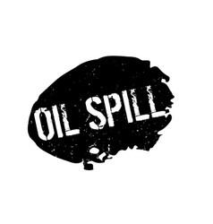 Oil spill rubber stamp vector