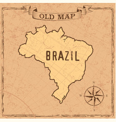 Old style brasil map vector