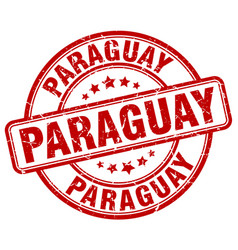 Paraguay red grunge round vintage rubber stamp vector