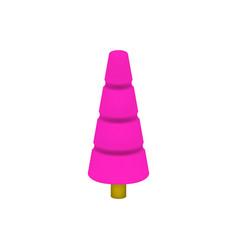 Pink tree in plastic design vector