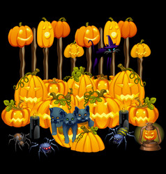 poster in style holiday all evil halloween vector image