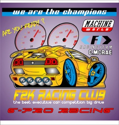 Racing club vector