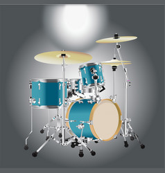Realistic drum kit background 2 vector