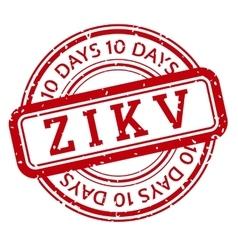 Red and white Zika Virus stamp vector image
