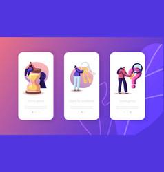 room escape conundrum mobile app page onboard vector image
