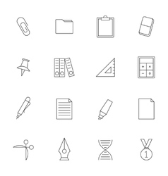 School education outline icons vol 2 vector