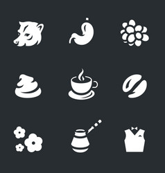 Set of coffee luwak icons vector