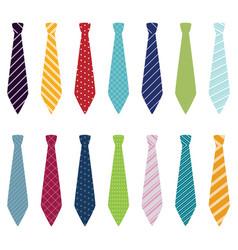 set of different ties vector image