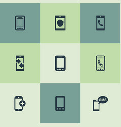 Set of simple telephone icons vector