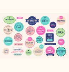 Set sale badges and stickers vector