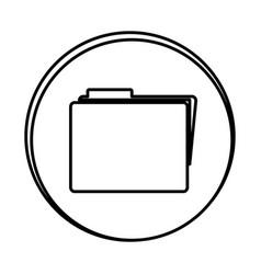 Silhouette symbol file icon vector