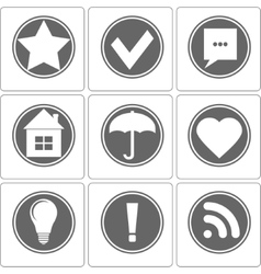 Simple Monochrome Icon vector