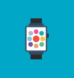 smartwatch electronic pictograph icon smart watch vector image