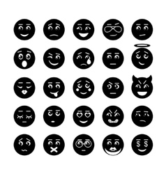 Smiley faces icon collection vector