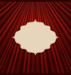 The frame on a textile red background vector