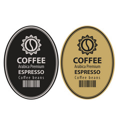 Two labels for coffee beans in retro style vector