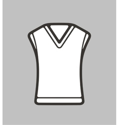 Vest on background vector