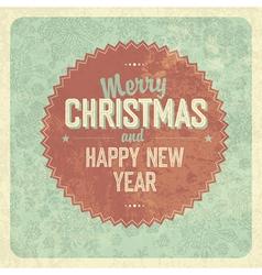 Vintage greeting christmas card vector