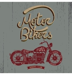 Vintage trademark with motorcycle vector