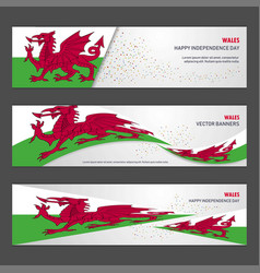 Wales independence day abstract background design vector