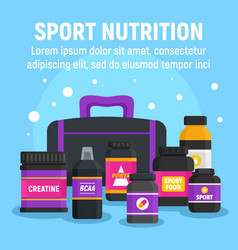 woman sport nutrition concept background flat vector image